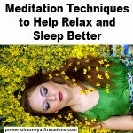 Meditation Techniques to Help Relax and Sleep Better