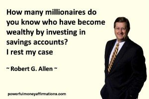Quotation with image about Wealth