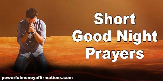 Short Good Night Prayers