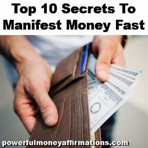 Top 10 Secrets To Manifest Money Fast