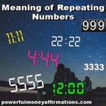 Meaning of Repeating Numbers
